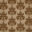 Seamless retro damask vector pattern - Stock Vector
