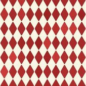 Seamless retro red harlequin background — Stok Vektör