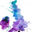 Watercolor map of the UK - ストック写真
