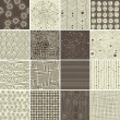 A set of 16 doodle seamless patterns and textures — ベクター素材ストック