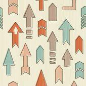 Seamless upward arrows in vector — Stock Vector