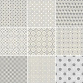 Set of faded blue retro polka dot seamless patterns — Stok Vektör