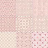 Set of 9 seamless polka dot patterns — Stock Vector