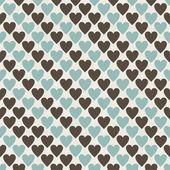 Patrón de corazones inconsútil retro — Vector de stock
