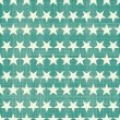 Stock Vector: Seamless stars pattern in retro faded green