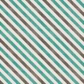 Seamless retro pattern with diagonal green and grey lines and fabric background texture — Stock Vector