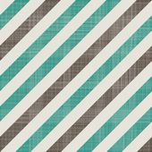 Seamless retro pattern with diagonal green and grey lines and fabric background texture — Stok Vektör