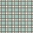 Retro geometric seamless pattern in blue grey and brown — Stok Vektör