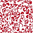 Chinese floral seamless pattern — Stock Vector