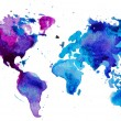 Cтоковый вектор: Watercolor map of the world
