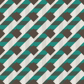 Seamless retro pattern with diagonal green and grey lines — Stock Vector