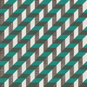 Seamless retro pattern with diagonal green and grey lines — Stok Vektör