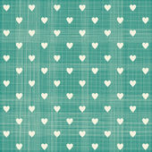 Seamless hearts  pattern with retro texture — Stock Vector