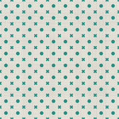 Seamless background with fabric texture in green and grey — Vector de stock