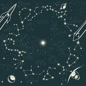 Zodiac constellations — Stock Vector