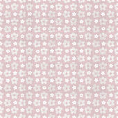 Flowers pink seamless background — Stock Vector