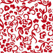 Floral Excellent Seamless Background — Vector de stock