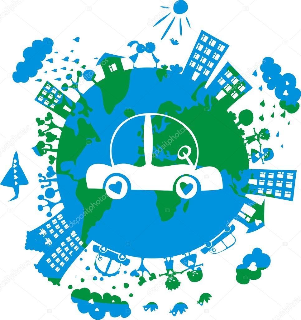 绿色星球 — 矢量图片作者 anastasiiaku