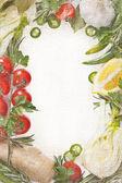 Vegetables frame. — Stock Photo