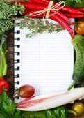Vegetable notebook. — Stock Photo