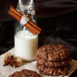 Cookies and milk. — Stock Photo