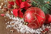 Composição de natal vermelho. — Foto Stock