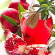 Homemade pomegranate juice. - Stock Photo