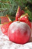 Kerstmis apple. — Stockfoto