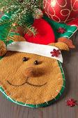 Christmas deer sock. — Stock Photo