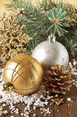 Kerstmis samenstelling. — Stockfoto