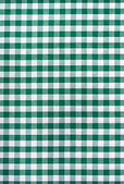 Green and white tablecloth — Stock Photo