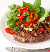 Grilled beef steak. — Stock Photo