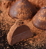 Chocolate truffle. — Stock Photo