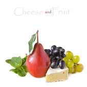 Cheese and fruit. — Stock Photo