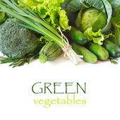 Yeşil sebzeler. — Stok fotoğraf