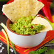 Stock Photo: Guacamole dip.