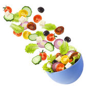 Greek salad. — Stock Photo