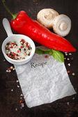 Recipe. — Stock Photo
