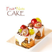 Fruit&Nuts Cake. — Stock Photo