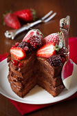 Chocolate cake. — Stock fotografie