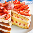 Strawberry cake. — Stock Photo #25633427