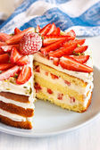 Strawberry cake. — Stock Photo