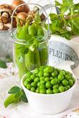 Green peas — Stockfoto