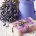 Lavender soap. — Stock Photo