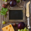 Cheese background. — Stock Photo