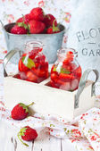 Strawberry lemonade. — Stock Photo