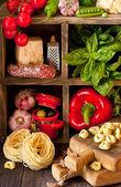 итальянская кухня. — Стоковое фото