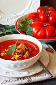 Tomato soup. — Stock Photo