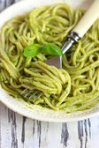 Pesto pasta. — Stock Photo