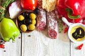 Italian food. — Stock Photo